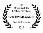 Cena Slovinskej televízie pre Žiť pre vášeň